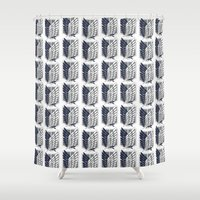 snk Shower Curtains featuring Survey Corps  by Aya Ghoneim