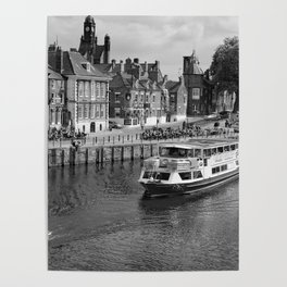King's Staith beside the river Ouse Poster
