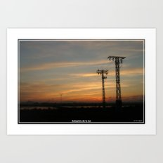 Autopista de la luz. Art Print