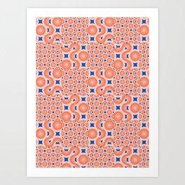 Orange Crush! A pop of orange and blue. Art Print