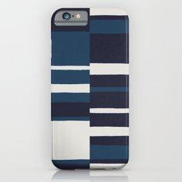 painted broken stripe-blue iPhone Case