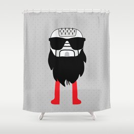 hipster epilator Shower Curtain