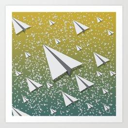 Paper Airplane 109 Art Print