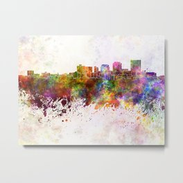 Dayton skyline in watercolor background Metal Print