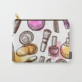 Modern Makeup Pattern Art Carry-All Pouch