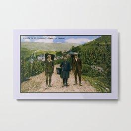 1900 Mosel wine harvest Schengen Luxembourg Metal Print