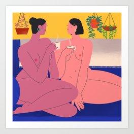 Friendship Babes Art Print