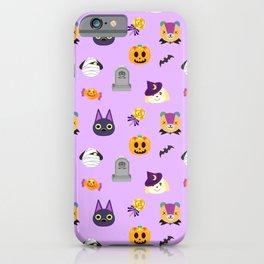 cute animal crossing halloween pattern iPhone Case