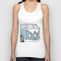 vw Tank Tops featuring VW Camper by 1and9