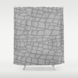 Gray Elephant Skin - Wild Animal Shower Curtain