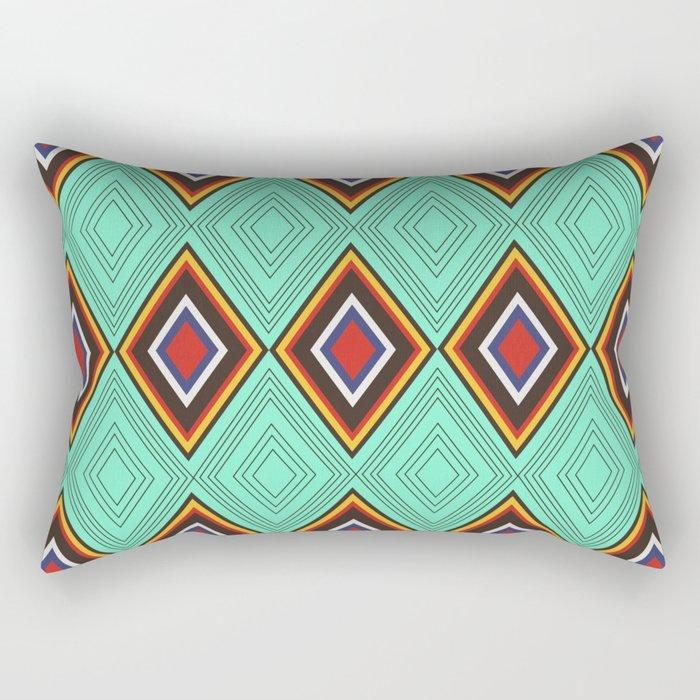 Tribal X Rectangular Pillow