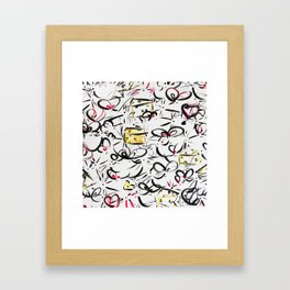 Smell the cheese Framed Art Print