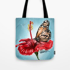 Butterfly on flower 2 Tote Bag