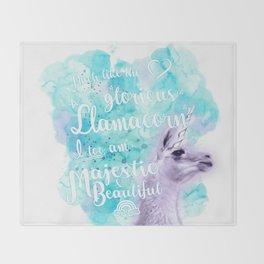 I am the Llamacorn Throw Blanket
