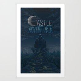 Castle Adventurer Art Print