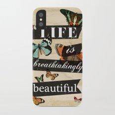 Life is Breathtakingly Beautiful Slim Case iPhone X