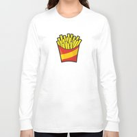 fries Long Sleeve T-shirts featuring French Fries by Sifis