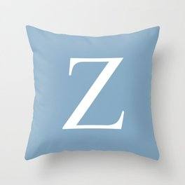 Letter Z sign on placid blue background Throw Pillow
