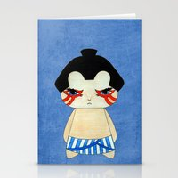 honda Stationery Cards featuring A Boy - E. Honda by Christophe Chiozzi