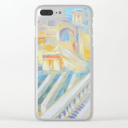 Assisi the city of peace by Diana Grigoryeva Clear iPhone Case