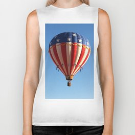 Patriotic Hot Air Balloon Biker Tank