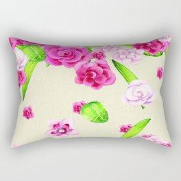 Paper and Pink Rectangular Pillow