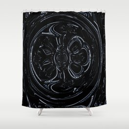 Black Wheel Shower Curtain