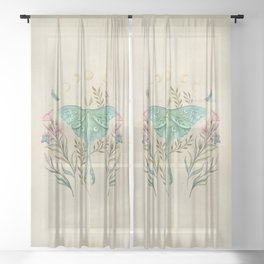 Luna and Forester - Oriental Vintage Sheer Curtain