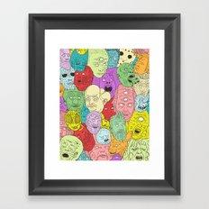 Faces of Math Framed Art Print