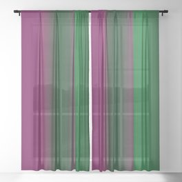 Emerald Green Ultra Violet stripes Sheer Curtain