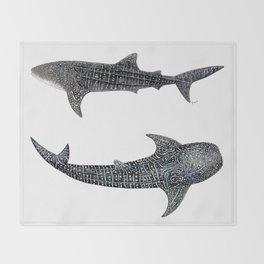 Whale sharks Throw Blanket
