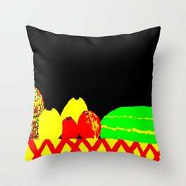 Table of Fruit Throw Pillow