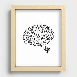 Brain Labyrinth Recessed Framed Print