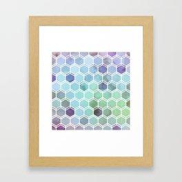 TWEEZY PATTERN OCEAN COLORS byMS Framed Art Print