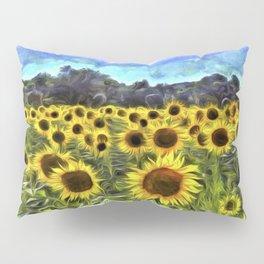 Sunflower Field Vincent Van Goth Pillow Sham