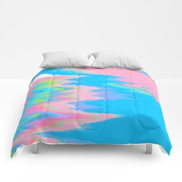 Neon Spill Abstract Comforters