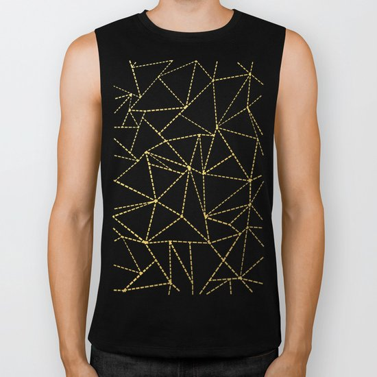 Ab Dotted Gold Biker Tank