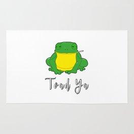 Toad Ya Funny Toad Frog Amphibian Biologist Medical Student Rug