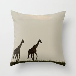 Walking elegance Throw Pillow