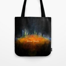 New York City Skyline Hq V04 Tote Bag
