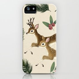 winter deer // repeat pattern iPhone Case