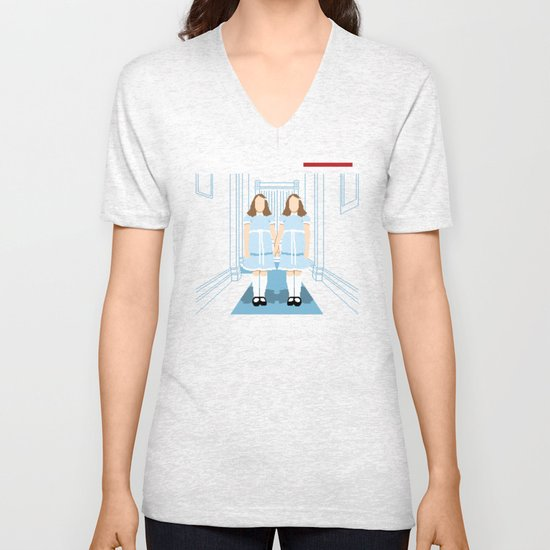 All Play and No Work Unisex V-Neck