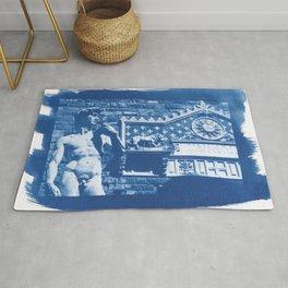 Cyanotype David Michel Ange Michelangelo Florence Firenze Italy Rug