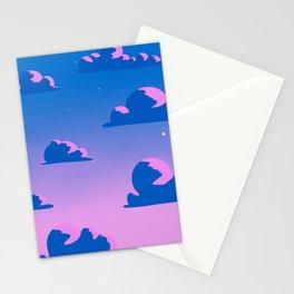 Sunset sky Lo-Fi kawaii purple pink Stationery Cards