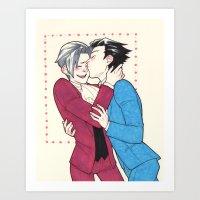 Phoenix kisses Art Print