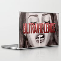 ultraviolence Laptop & iPad Skins featuring Ultraviolence by MarryTheSequins