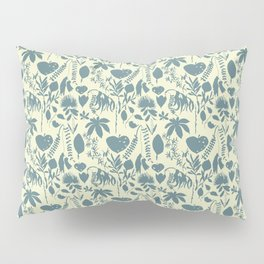 Native Flora On Ecru Pattern Pillow Sham