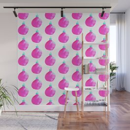 Festive Bells Pattern // Pink version // Holiday gift Wall Mural