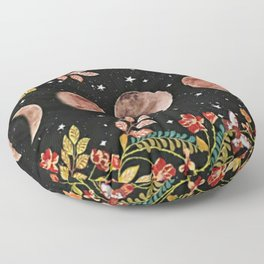 lovely moon cylcle Floor Pillow