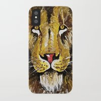 the lion king iPhone & iPod Cases featuring Lion King by Devon